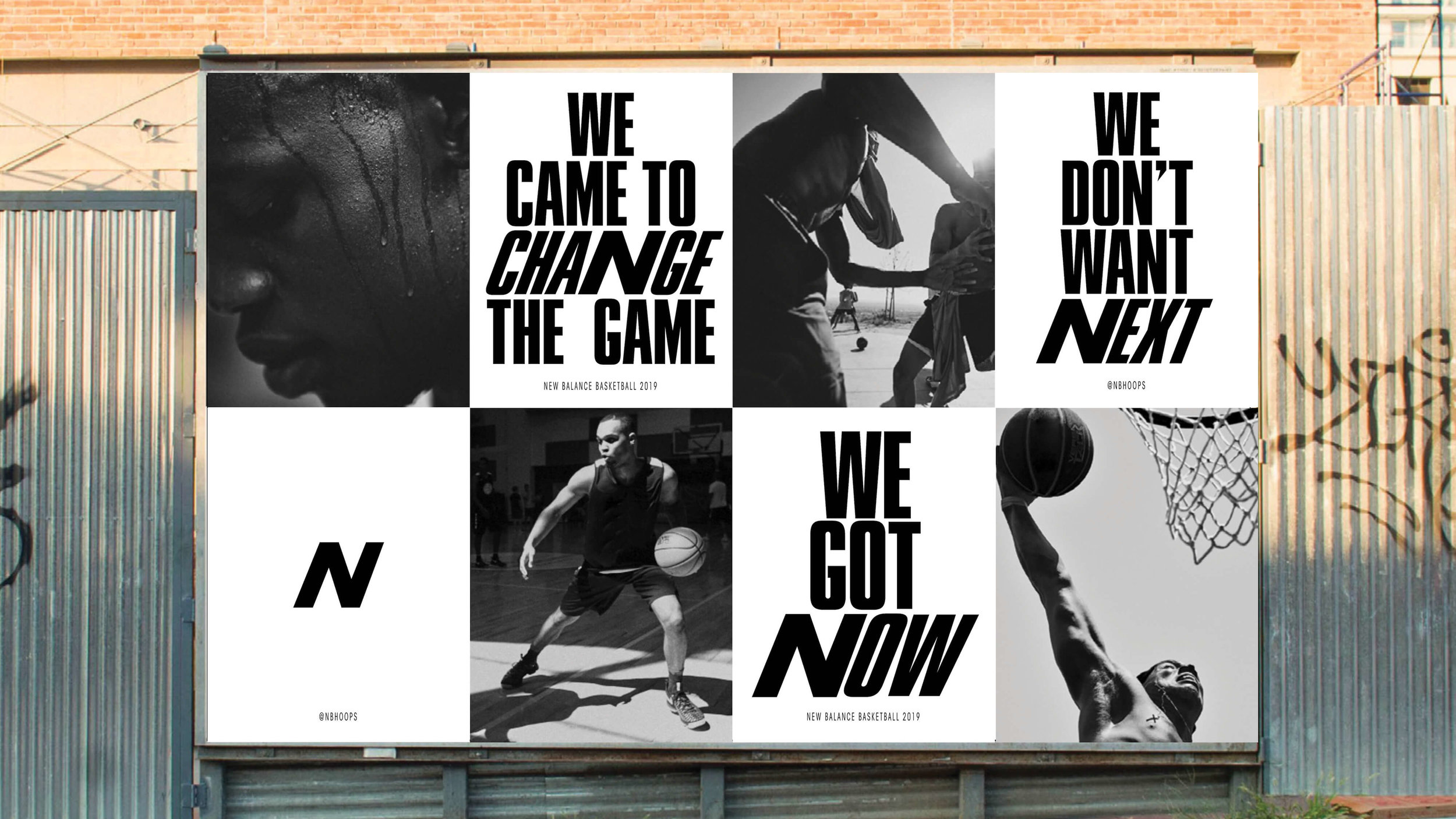 A sample of Alex's work: We came to change the game; we don't want next; we got now.