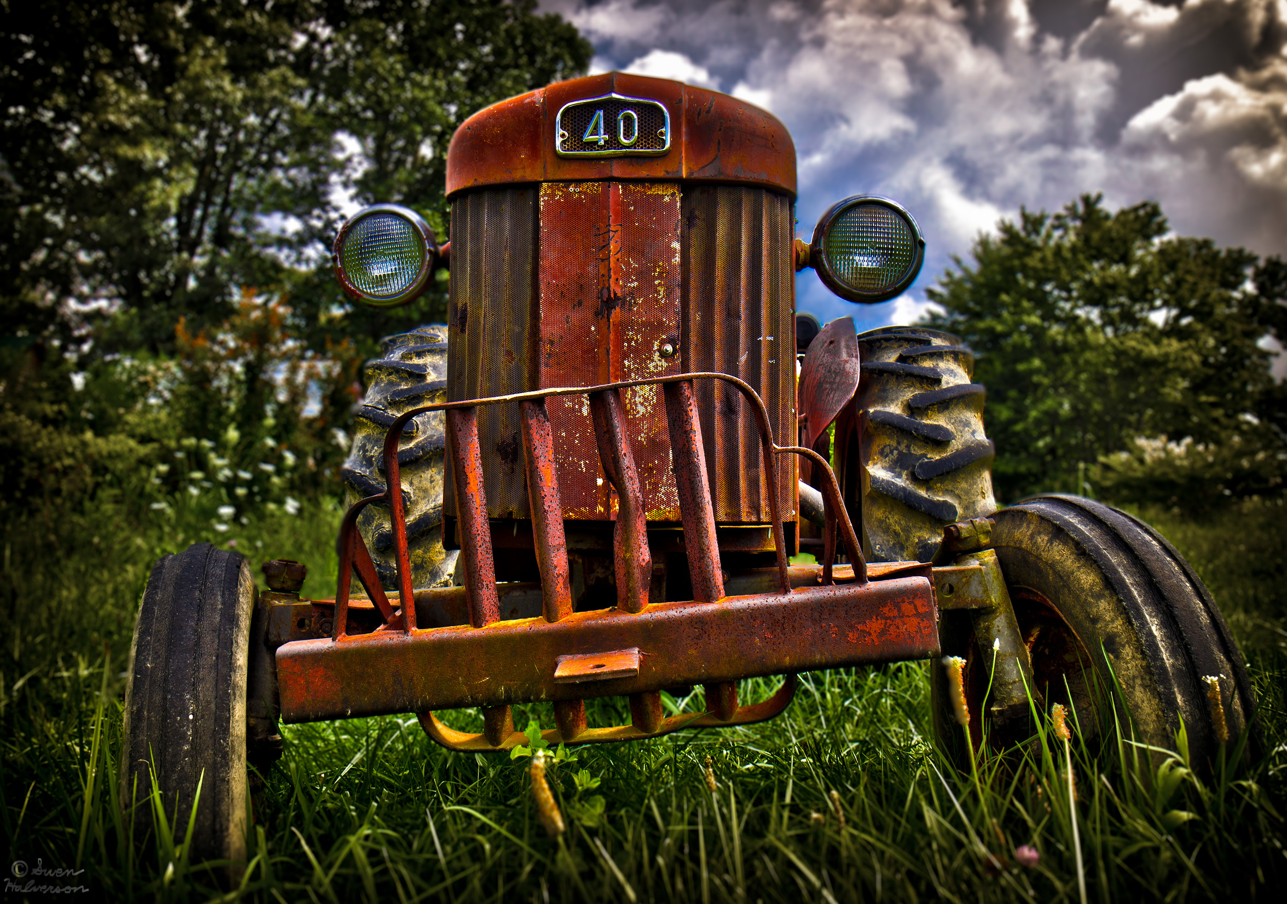 Theme: Damaged <br>Title: That Ol' Tractor