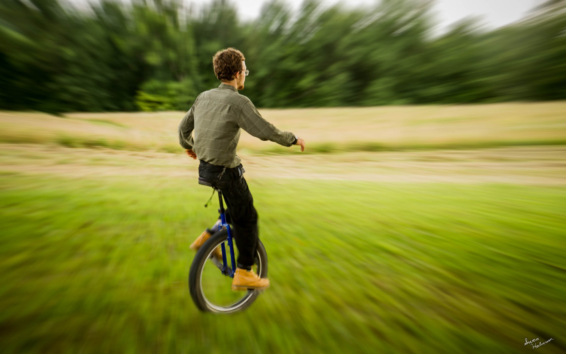 Theme: Rolling | TItle: Unicycling
