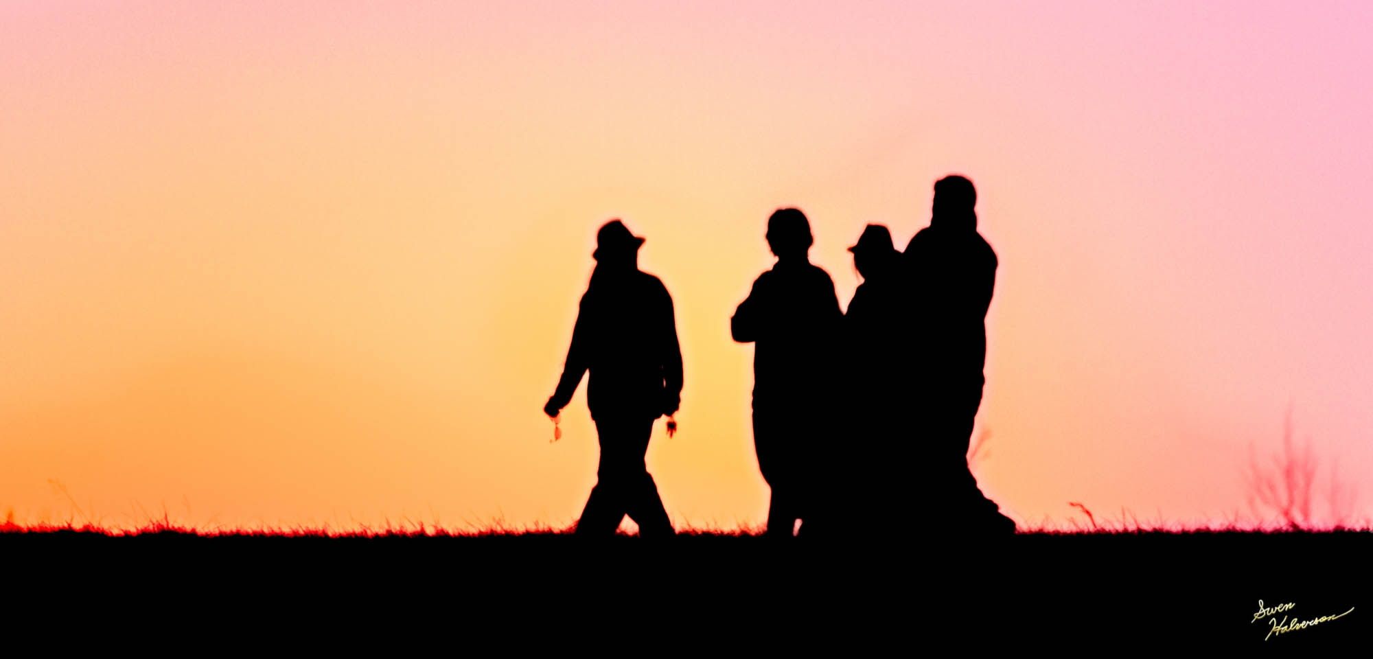 Theme: Walk | Title: Walking In The Sunset