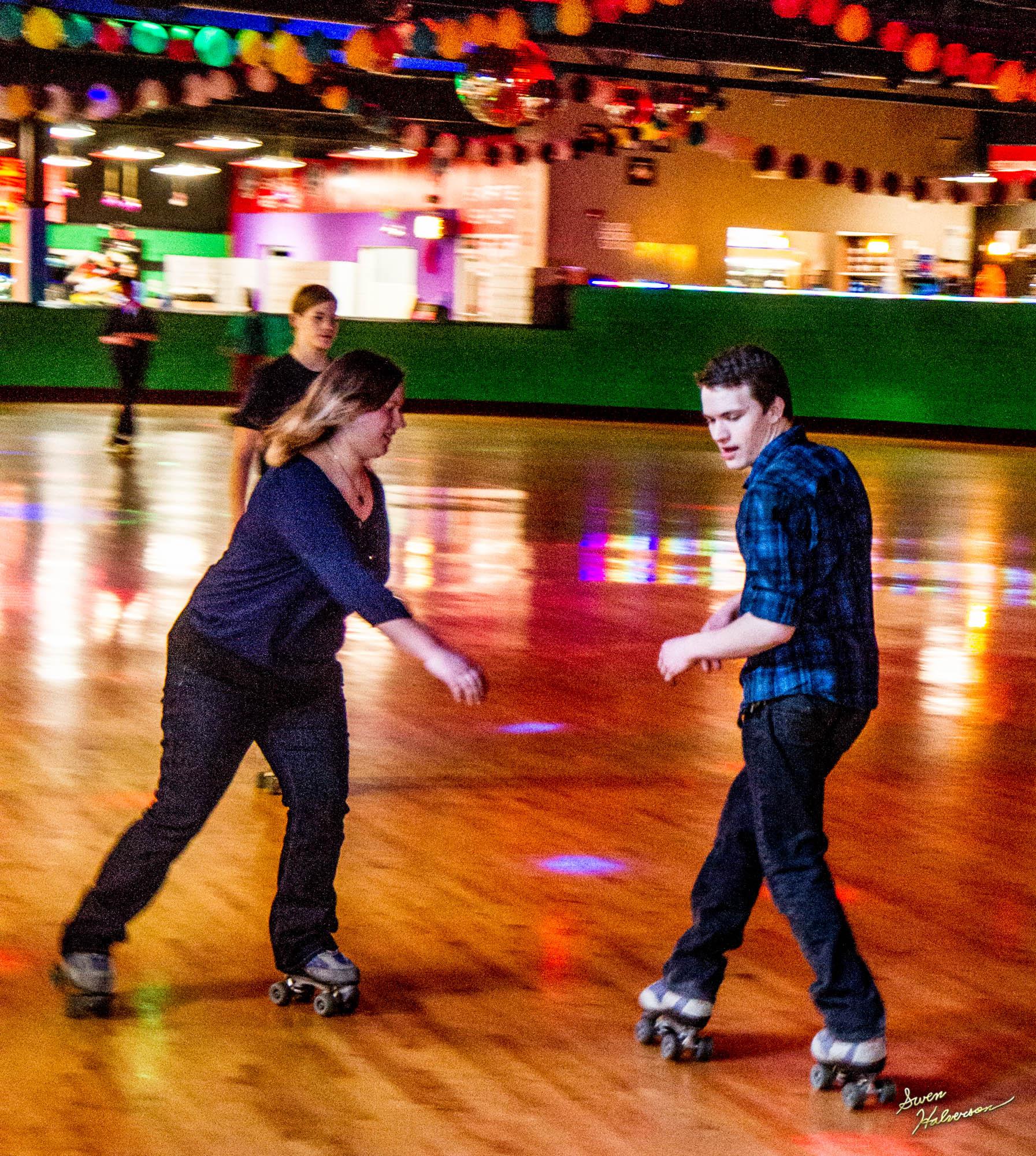 Theme:Skate| Title: Skating Backwards in Color