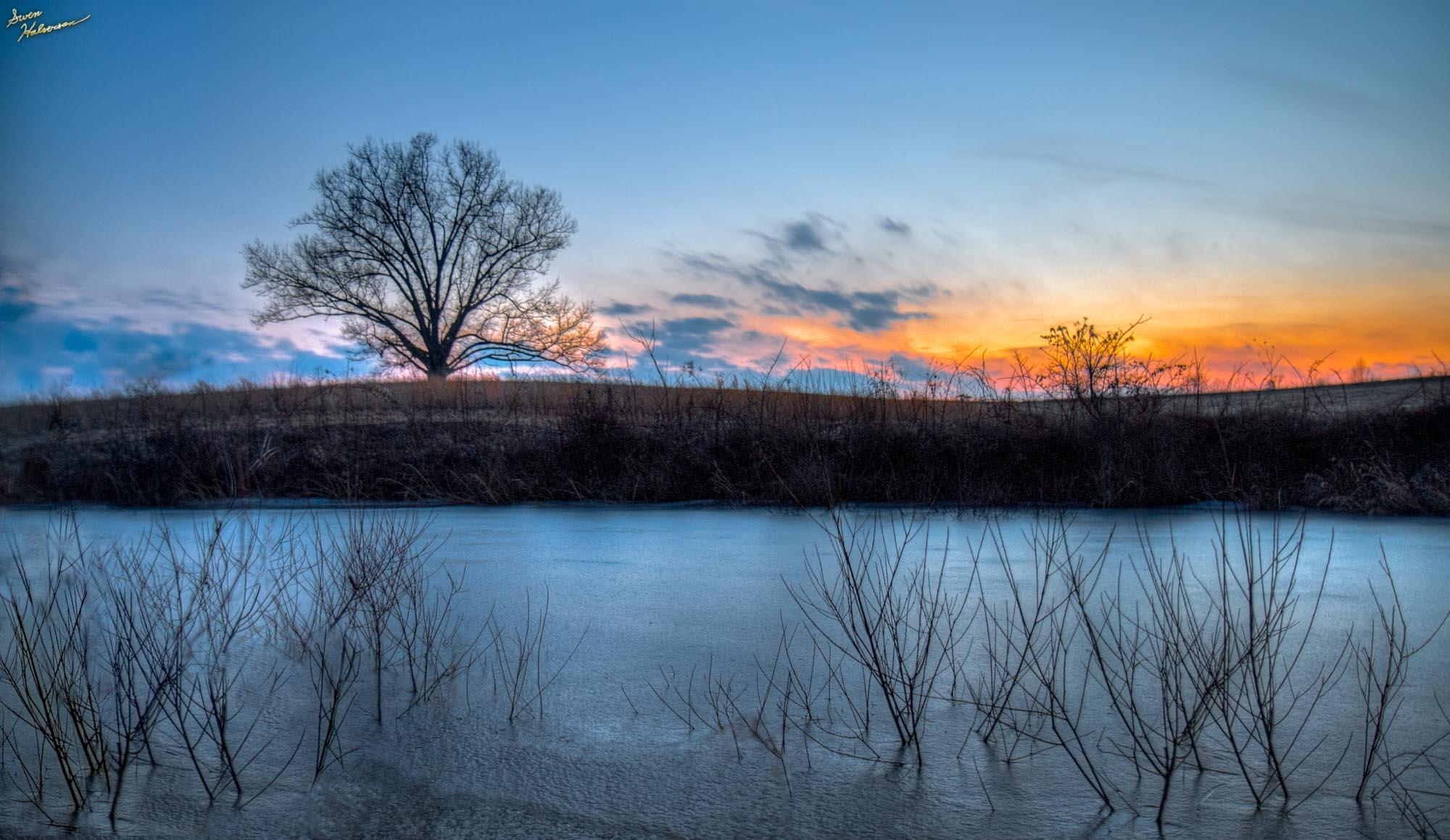 Theme: Clouds | Title: Wispy Ice Sunset