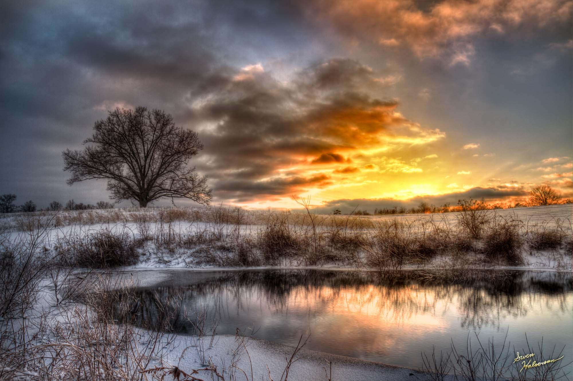 Theme: 7 | Title: Frozen Sunset
