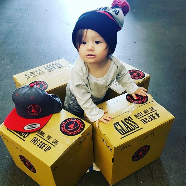 Sending beer out for competition. *Brewery baby not included*  #wishusluck #sanfernandobrewingco