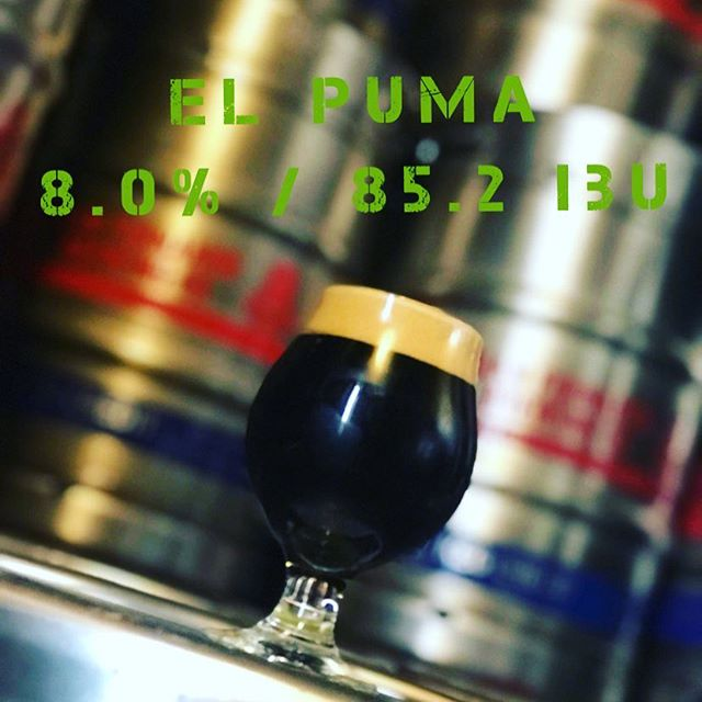 Releasing today is the El Puma Black I.P.A. Brewed with warrior, galaxy, & simcoe hops. Giving it a tropical aroma, hints of chocolate with a slight danky finish. #tipsy #sanfernandobrewingco #smallbatch