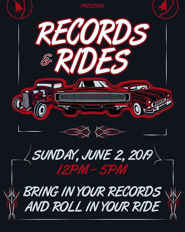 Bring in your vintage cars to display and your records to spin on Sunday 6/2/19 for a memorable Records and Rides. #markyourcalendars #sanfernandobrewingco