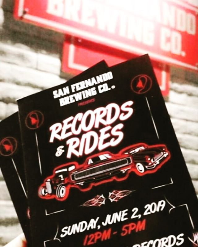 Don't forget! Tomorrow is Records and Rides! Bring in your vinyl records to spin, and roll in with your vintage car to place on display. #sanfernandobrewingco