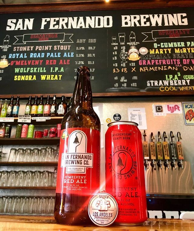 This just in! The O'Melveny Red Ale taking silver at the Los Angeles International Beer Competition. Come on by and celebrate with us! #tgif #sanfernandobrewingco
