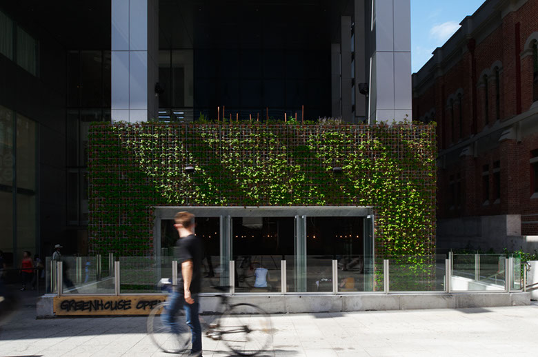 Joost Bakker's Greenhouse in Perth, Australia, and his famous vertical garden ( image via  By Joost  )