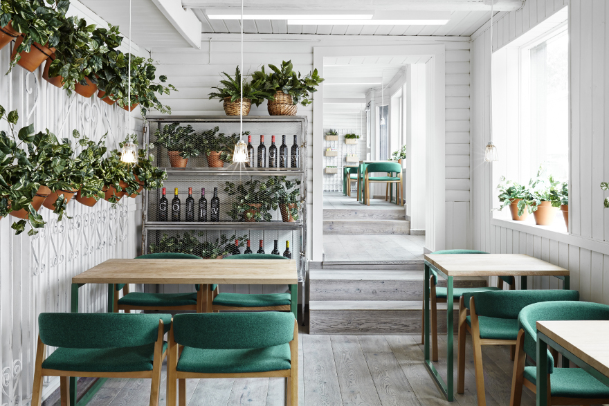 Organic restaurant, Vino Veritas, in Oslo, Norway ( image via  Restaurant & Bar Design  )