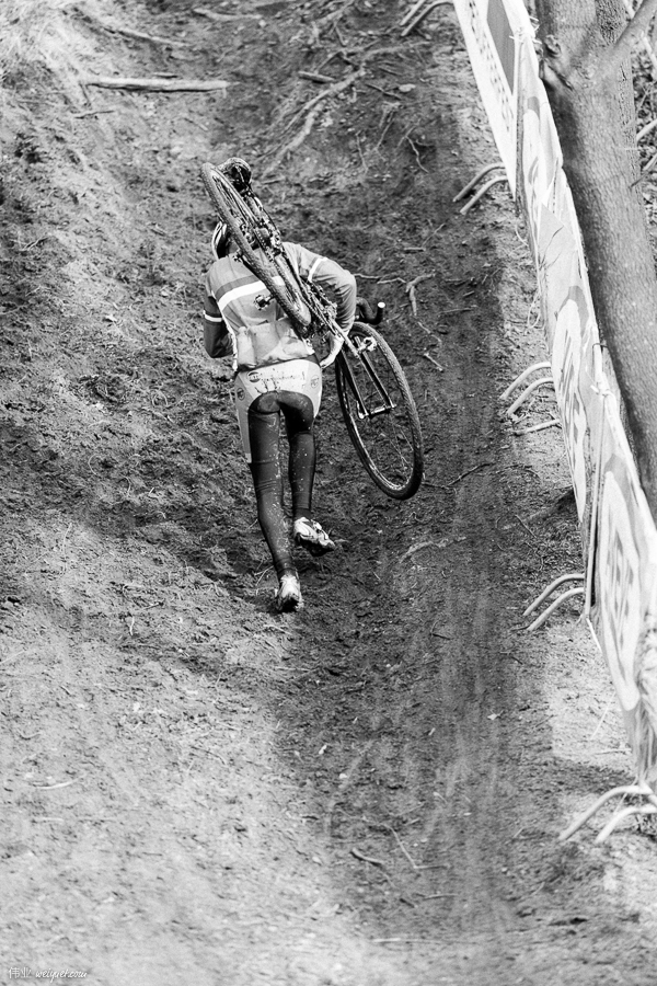 Cyclocross is a tactical race of decisions. When to ride. When to run. To push, or to shoulder the bike.