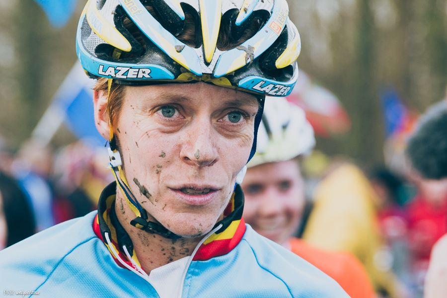 One rider that I really got to know - Ellen van Loy (BEL). Thanks for saying hi, and always giving me a word or two about how you feel about the course. Amazing woman, who has a full time job being an educator, outside CX racing.