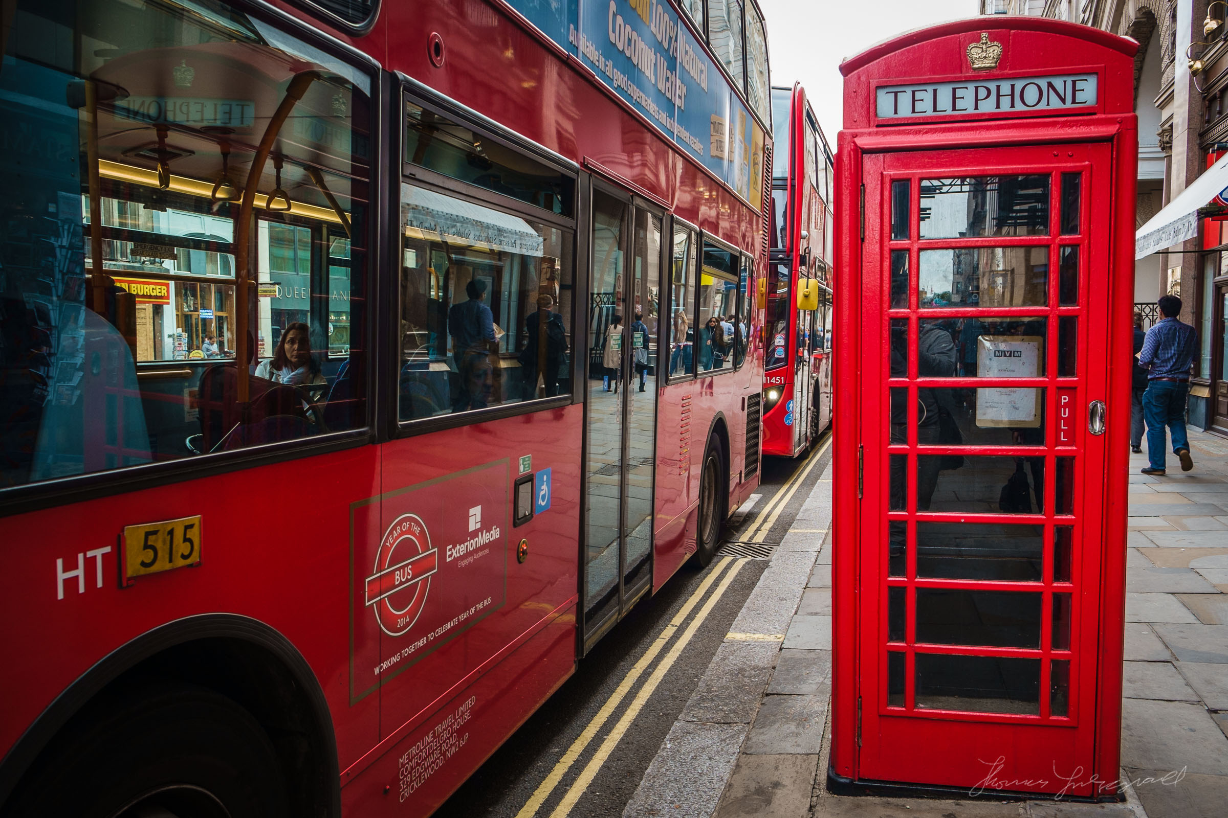 Telephone box and Bus
