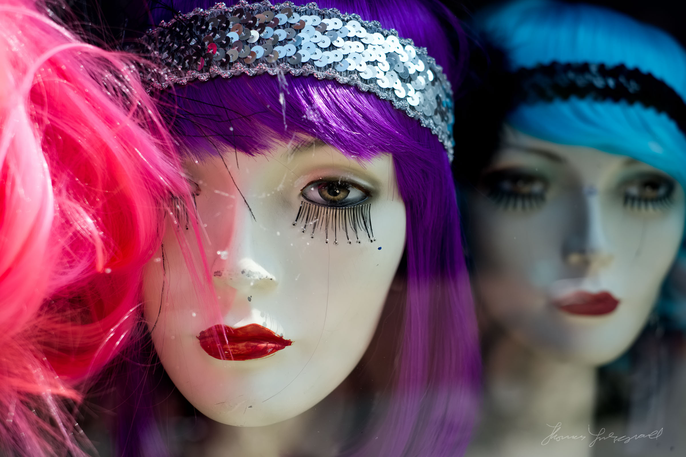 Mannequins in a Window in Dublin City - Thomas Fitzgerald Photography