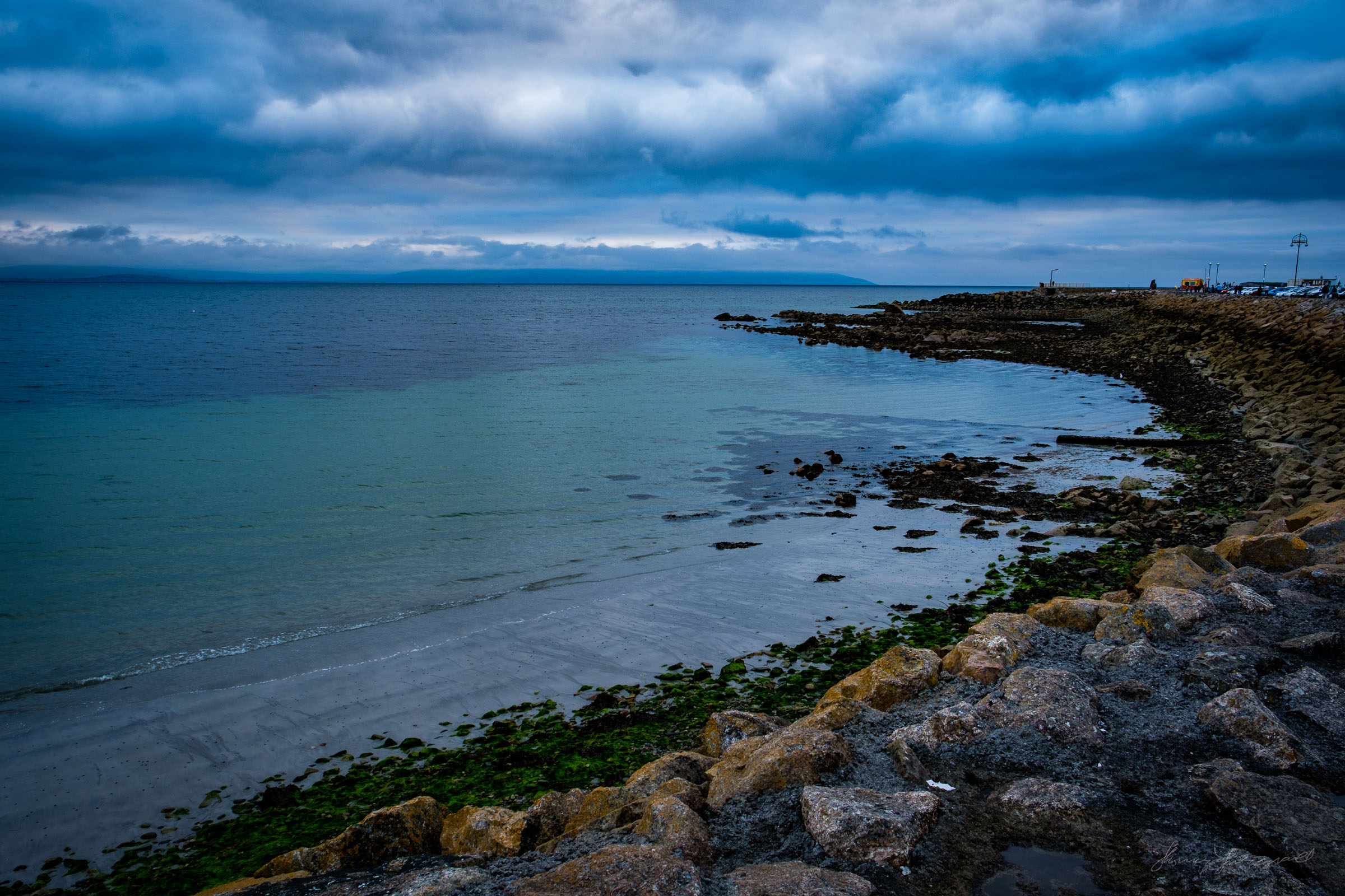 Sunset over the beach at Salthill in Galway