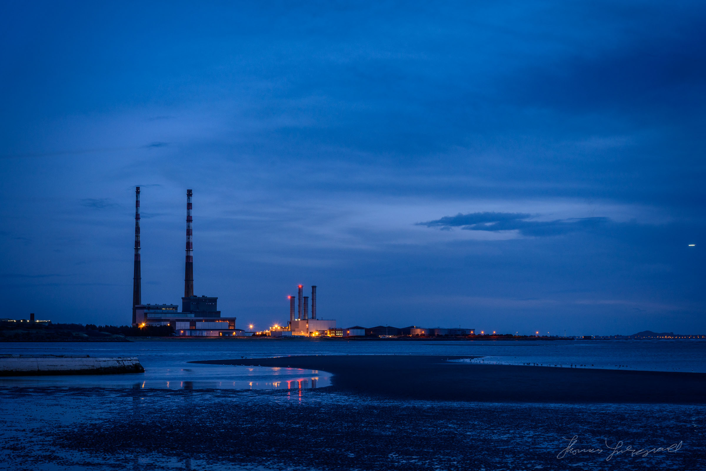 Before sunrise on the first day of 2018 in Dublin