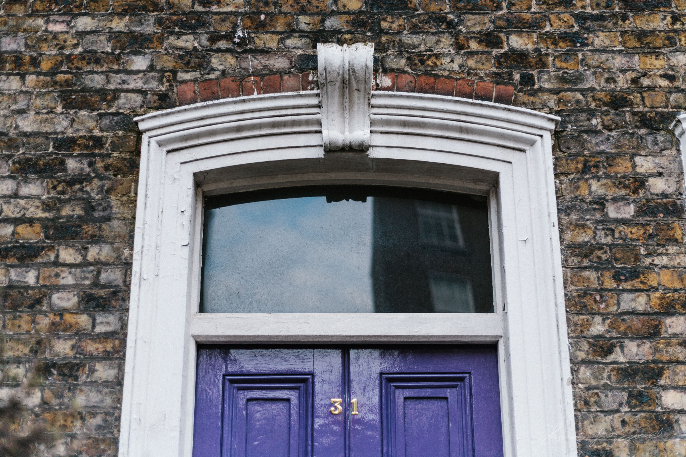 Purple Doorway in Dublin City