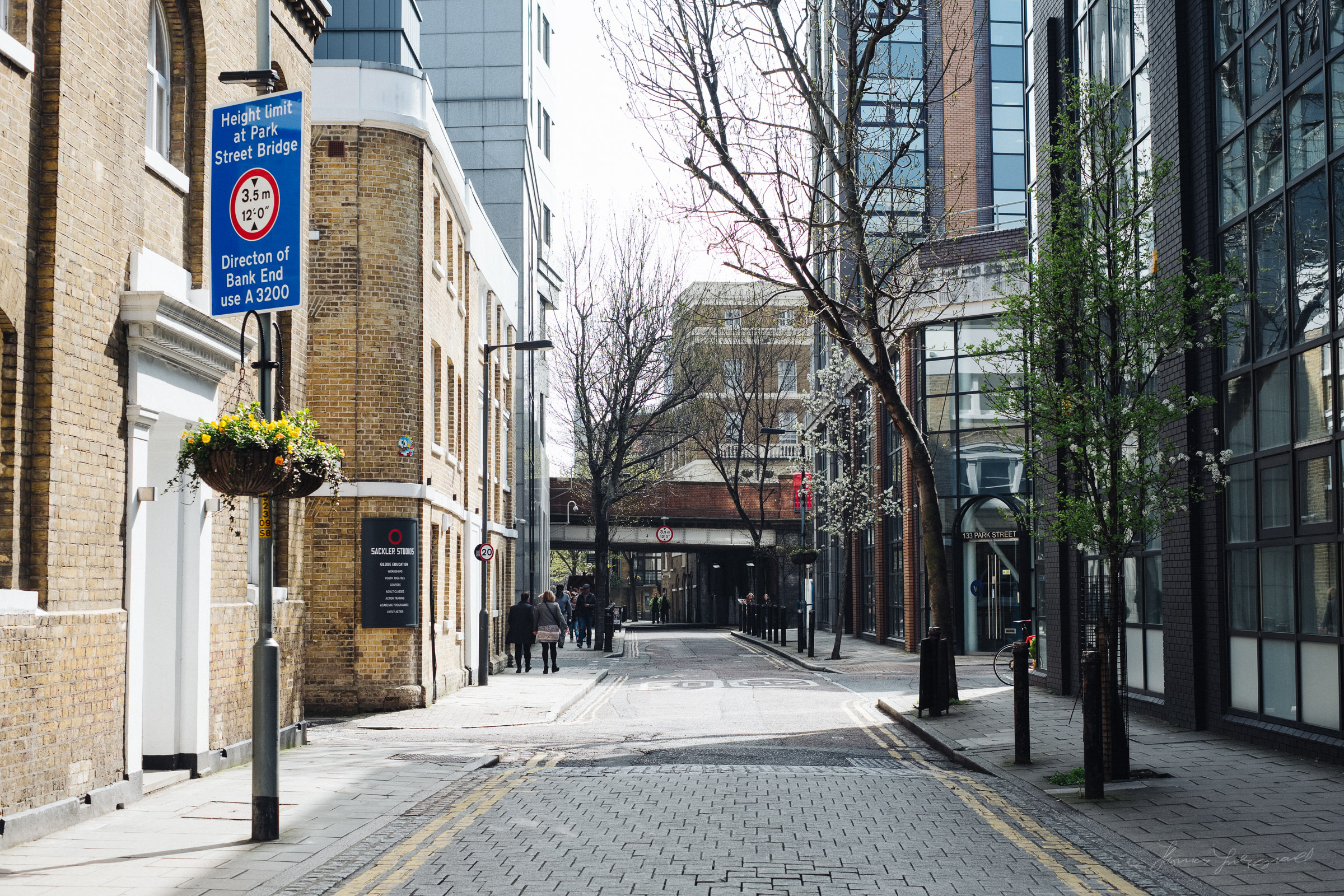 A quiet street in London's Southwark district