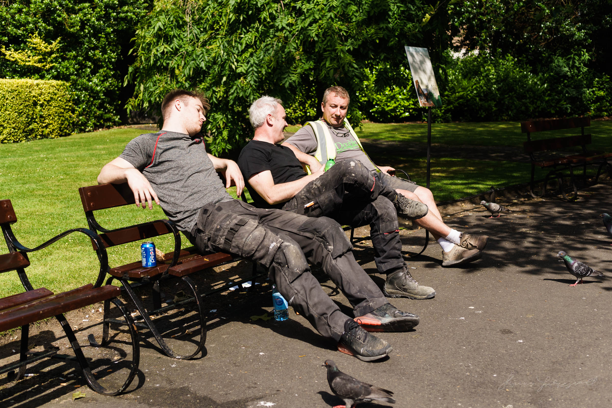 People sitting on a bench in the park - Street Photo Diary