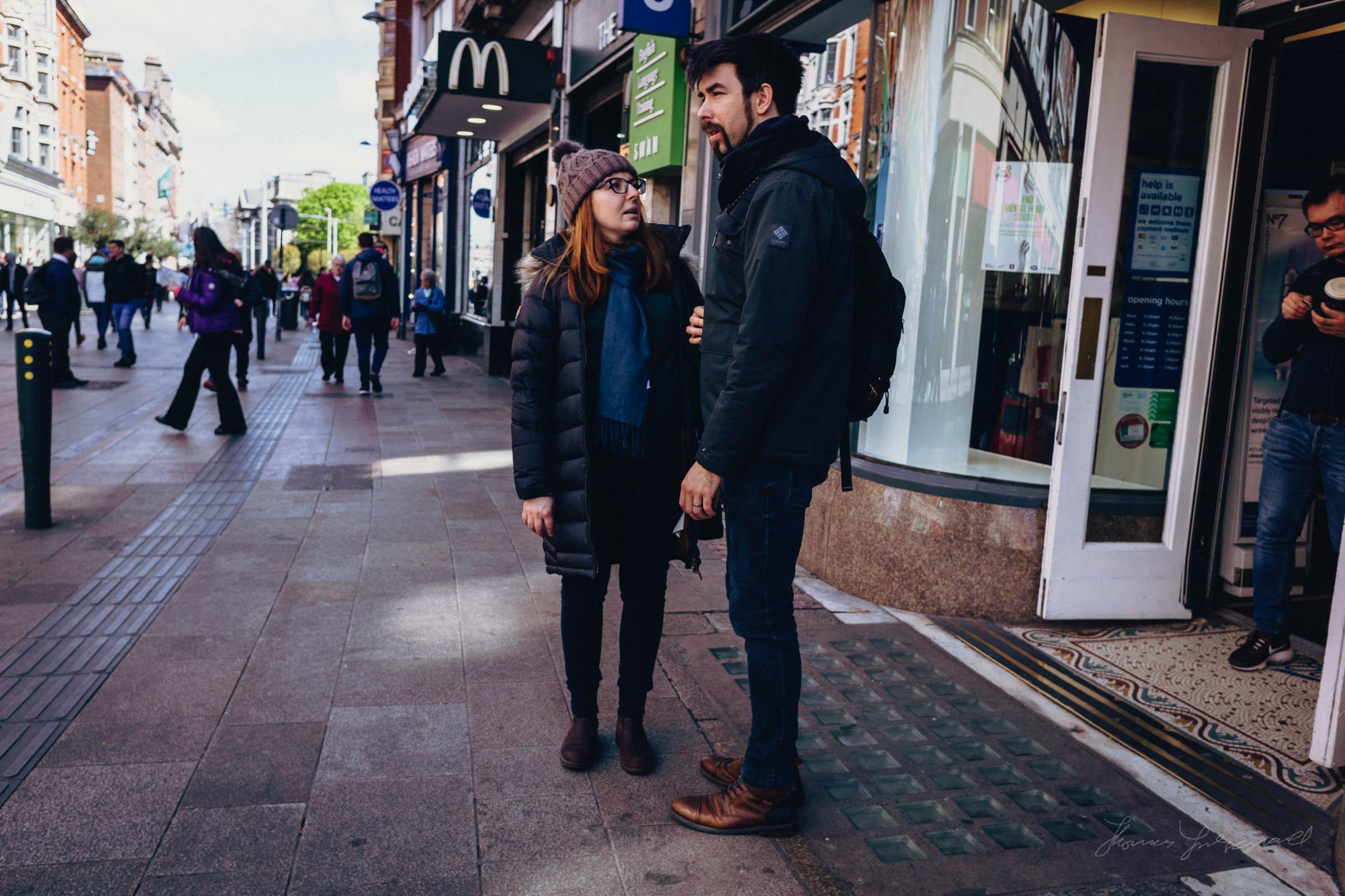 People on Dublin's Grafton Street