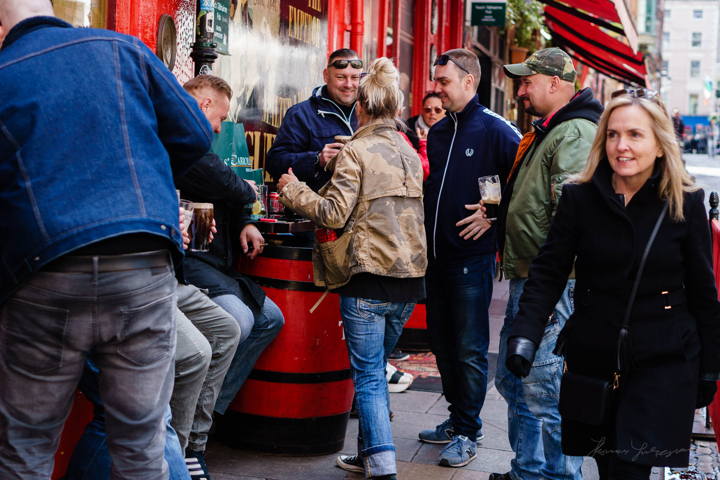 people at a bar  - Street Photography in Dublin