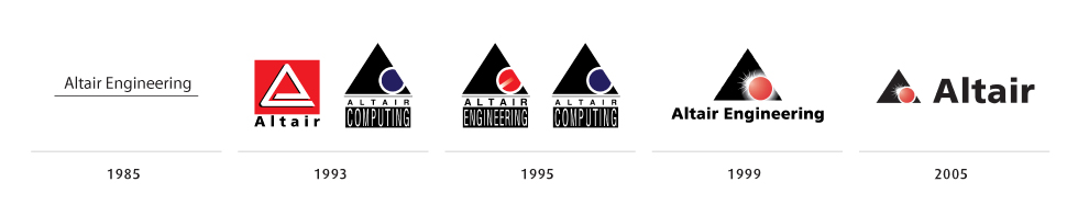 Altair_logo_history