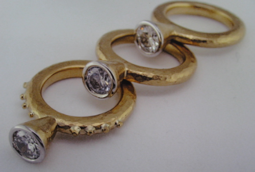 Etruscan rings made in our shop years ago