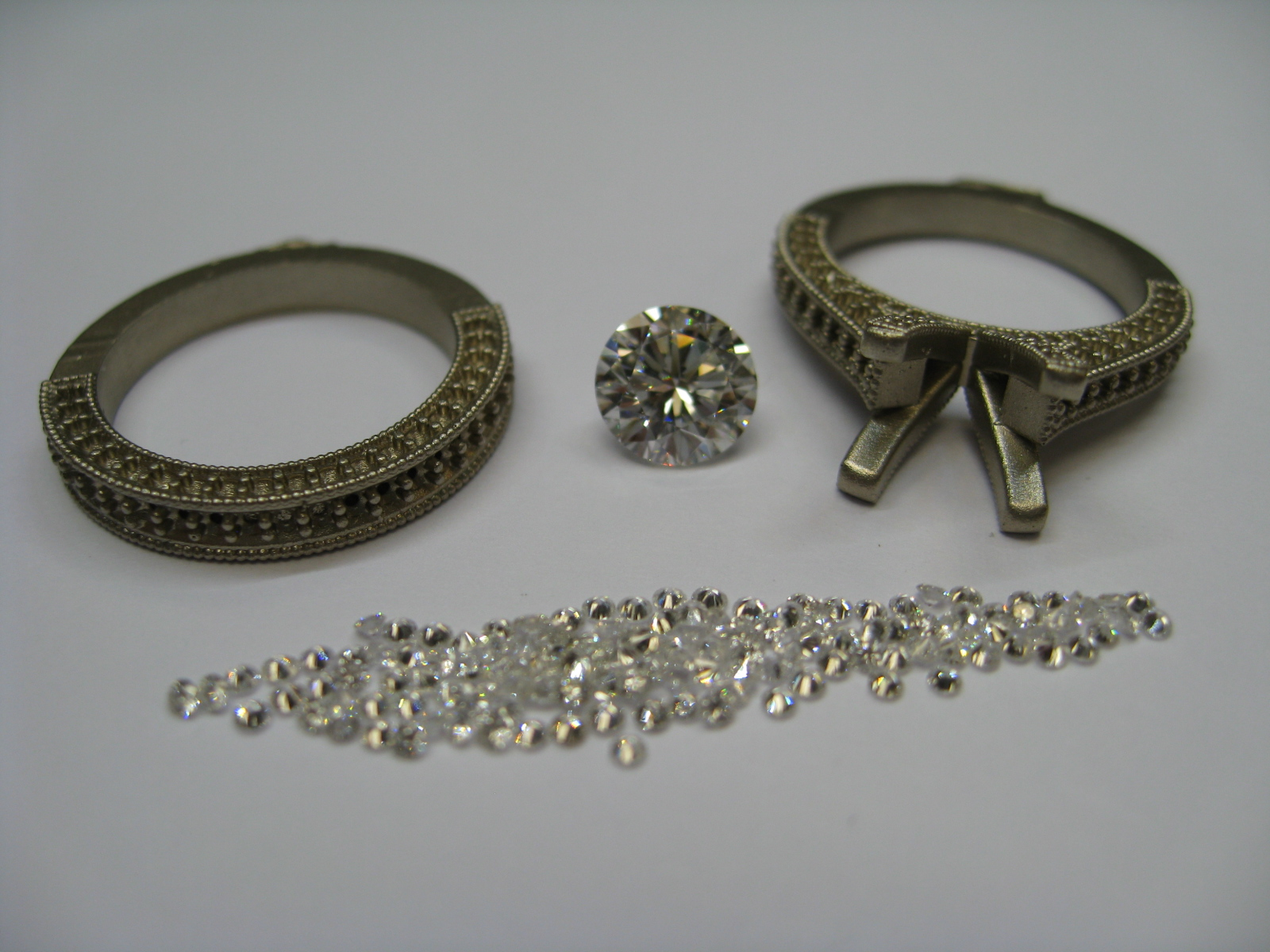 The rough ring and diamonds