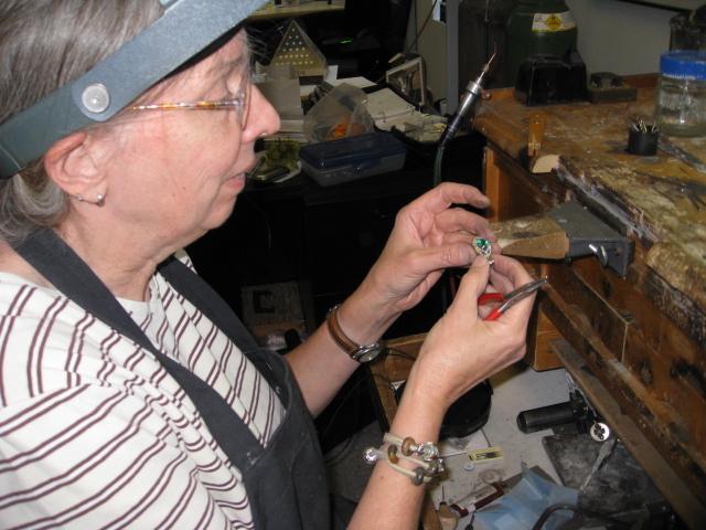 Master Jeweler at work
