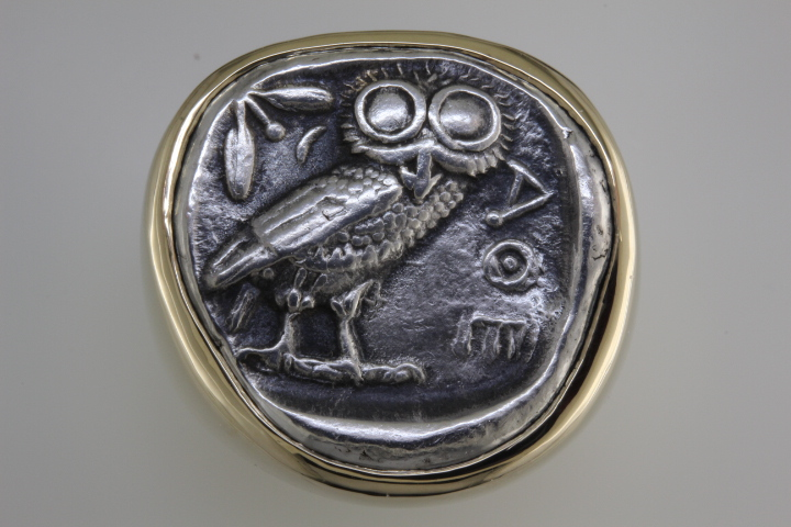 Glaucus the owl on tetradrachm