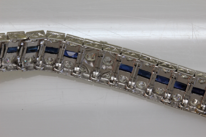 Picture of the underside of the bracelet showing off the handmade hinges