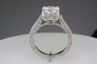 Modern custom made engagement ring