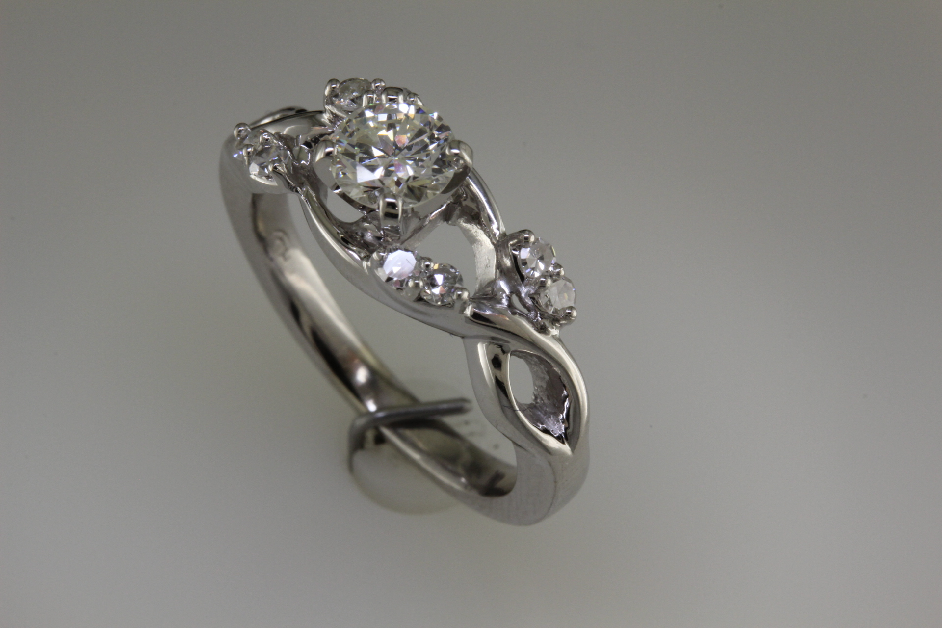 Side view - engagement ring