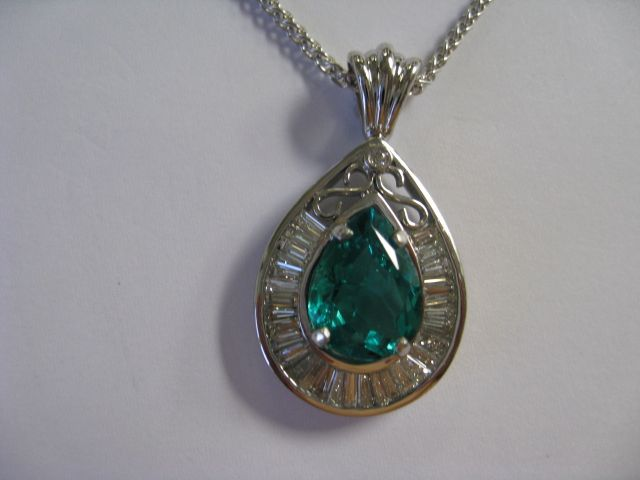 Finished Emerald Pendant