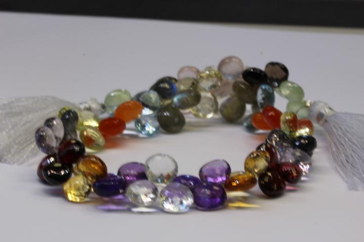 Assortment of pear shaped gemstones