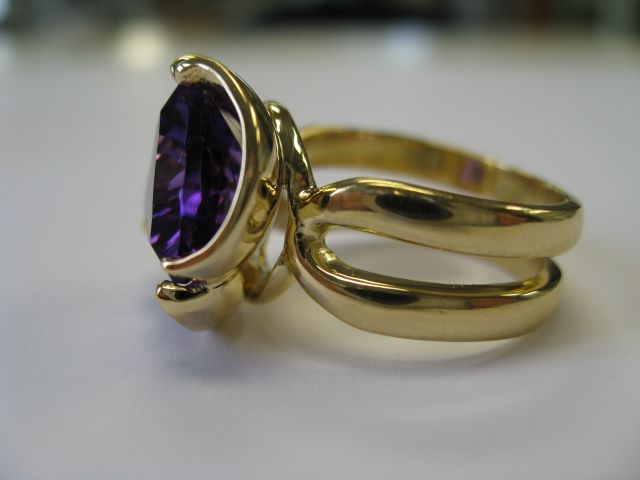 Finished Amethyst Ring