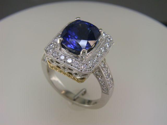 Custom made oval Sapphire ring