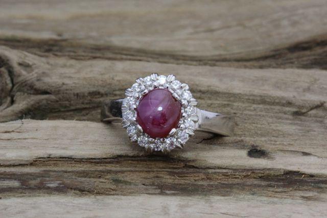 Genuine Star Ruby Ring