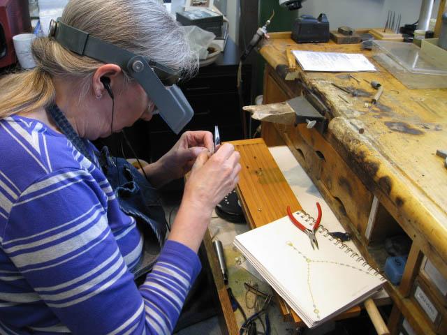 Jeweler at work