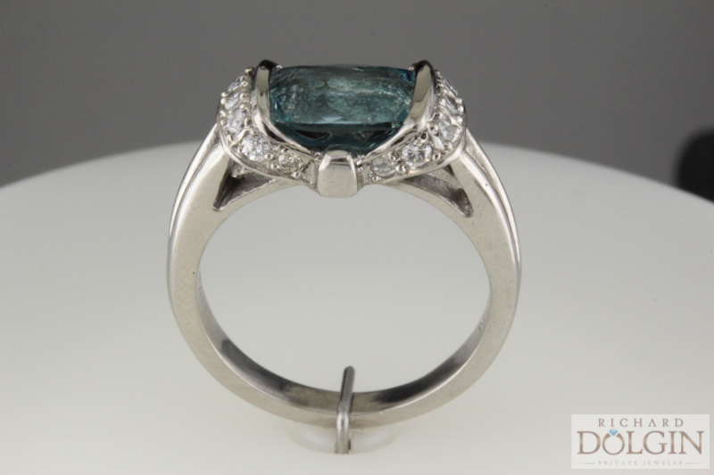 Aquamarine custom ring