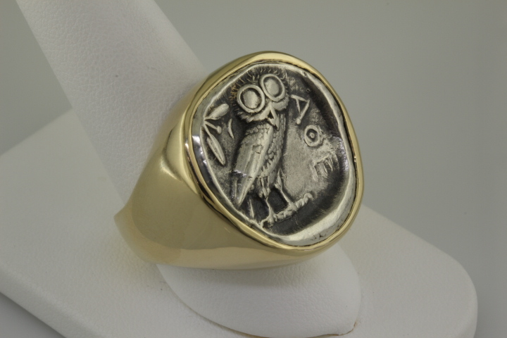 Men's drachma ring
