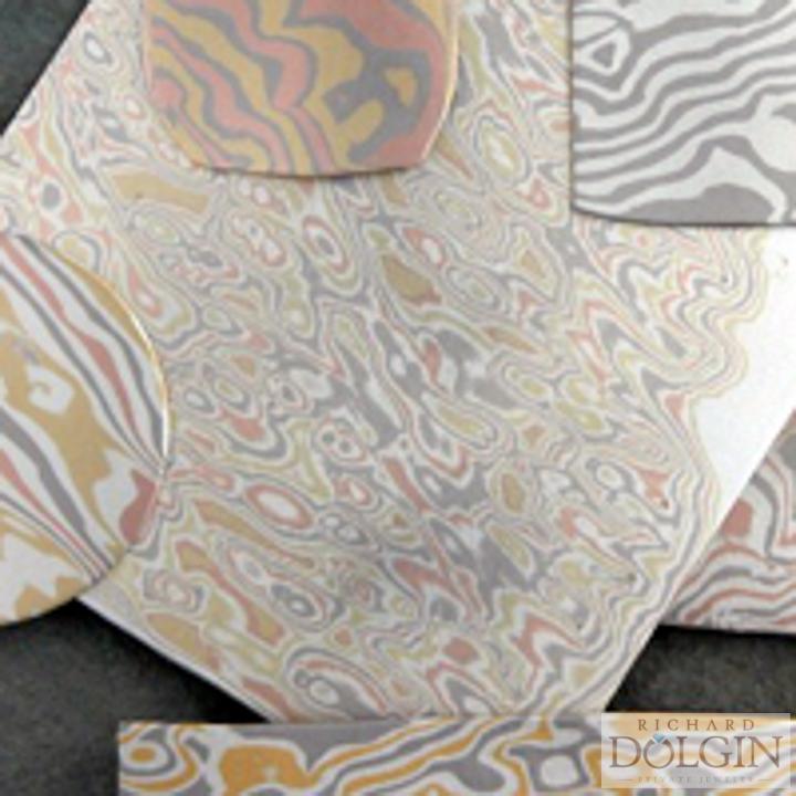 Sheets of mokume