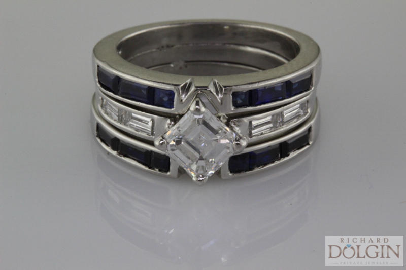 Platinum three ring set