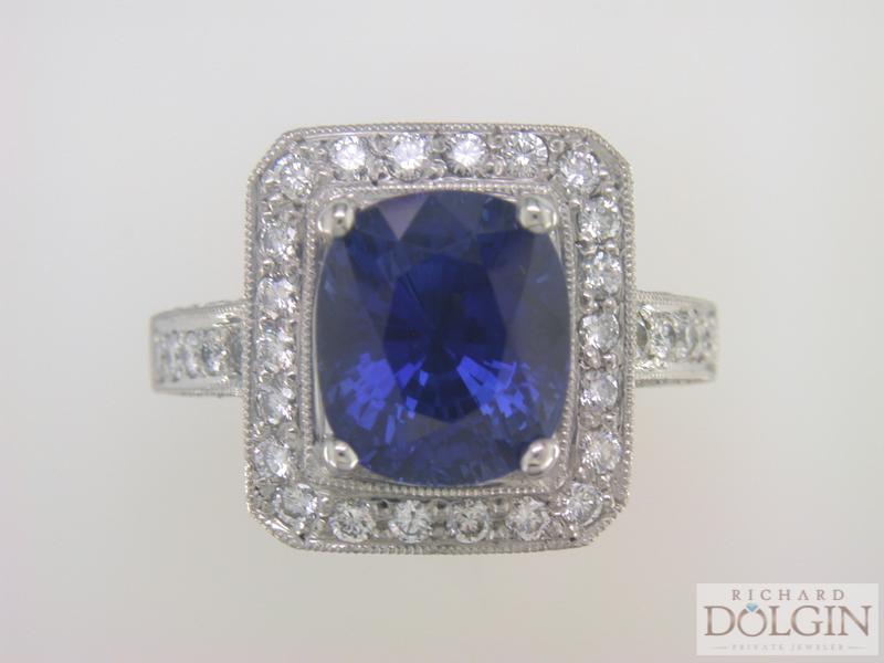 Ceylon Sapphire in Platinum