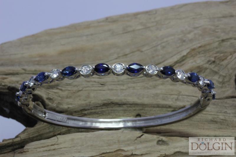 Sapphire and Diamond Bangle
