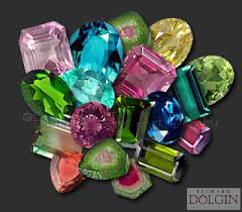 Tourmaline in many colors