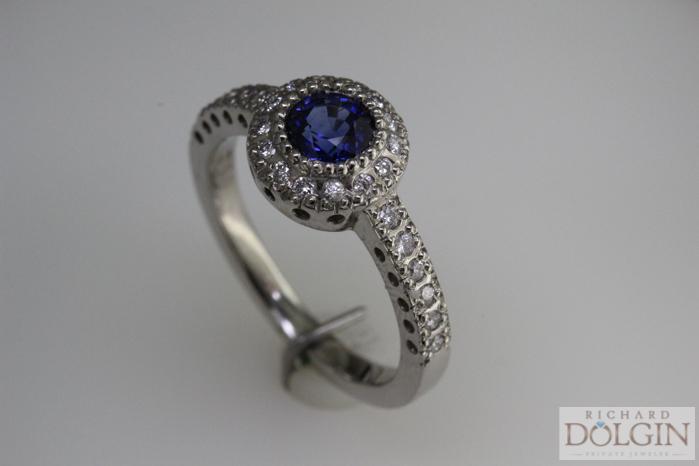 Ceylon and Sapphire Ring