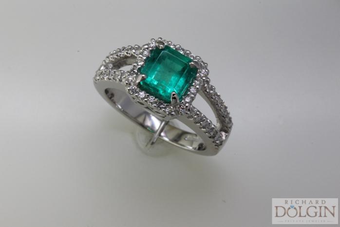 Columbian Emerald and Diamond Ring