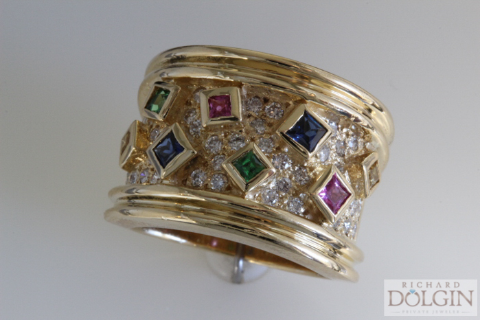 Sapphire and Diamond Estate Ring