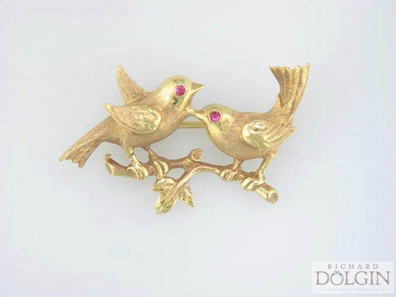 Love Bird pin